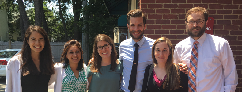 PGY3 residents take a break from their clinical duties to take a stroll around campus.